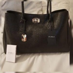 Furla New appaloosa tote bag onyx